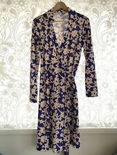 DIANE VON FURSTENBERG Silk Wrap Dress Purple Size 12
