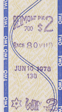VINTAGE  RARE HORSE  RACING 1978 BELMONT STAKES $2 WIN TOTE