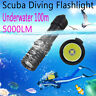 5000LM CREE XM-L2 LED Scuba Diving Flashlight Waterproof Underwater 100m Torch