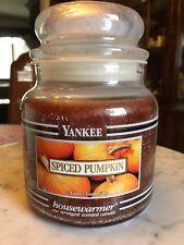 Yankee Candle Spiced Pumpkin 14.5 Oz Black Band