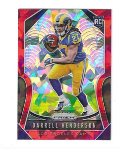 DARRELL HENDERSON 2019 PANINI PRIZM RED ICE PRIZM #330 $25.00 LOS ANGELES RAMS