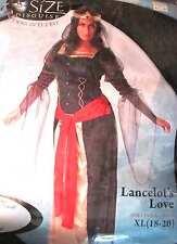 Costume, 2XL XL Lancelot's Love Faire Lady Queen Sorceress Dress Corset Crown