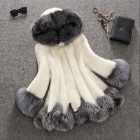 Modish Pelzmantel Damen Winterjacke Plus Size Gr:2XS-4XL Abendlich Faux-Fur TOP