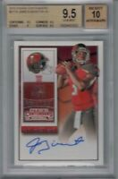 Jameis Winston 2015 Panini Contenders #217A Rookie RC BGS 9.5 Auto 10 Gem MINT