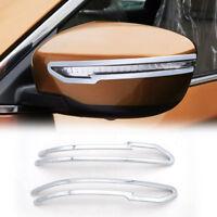 For Nissan X-Trail X Trail 2014-2018 Side Door Mirror Chrome Cover Trim Garnish