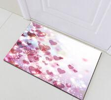 Home Memory Foam Bath Mat Floor Rug Bathroom Carpet Shiny Heart Valentines Day