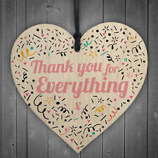 Teacher Midwife Thank You For Everything Wooden Heart Friend Family Plaque Gifts