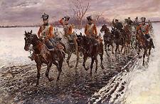 JAN VAN CHELMINSKI  Napoleonic Campaign II  Art  Canvas