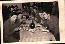 """VERA FOTO MILITARI ESERCITO ITALIANO 1954 Brigata alpina """"Julia"""" IN MENSA 11-6BI"""