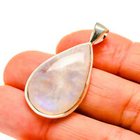 "Rainbow Moonstone 925 Sterling Silver Pendant 1 1/2"" Ana Co Jewelry P745848F"