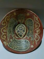 MUSEUM QUALITY PERSIAN GLAZED SARI-WARE BOWL DEPICTING BIRD