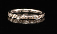 Natural Diamond Full Eternity Ring Engagement Stackable Band 10K White Gold