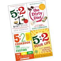 Dirty Diet,5:2 Cookbook,5:2 Diet Book 4 books Collection Set Feast for 5 Days a