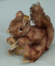 Steiff Perri Squirrel with Button, Tags & Nut  Disney Character.