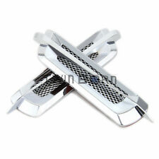 Euro Style Chrome Side Vent Car Air Flow Fender Portable Cover Intake US STOCK