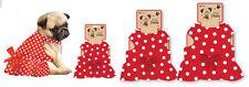 Cute Red and White Polka Dot Dog Dress with Bow Dog Clothing Pet Jacket 3 Sizes