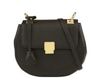 NWT ALDO Cartera City Friedline Black leather Crossbody Bag