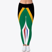 South Africa Flag Leggings Women's Print Fitness Stretch *Leggings* Yoga Pants