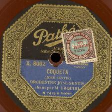 JOSÉ SENTIS & M.URQUIRI -VOCAL- Tango: Coqueta / Suspiros; Schellackplatte S3111
