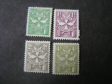 MALTA, SCOTT # J22a-J26a(4), COMPLETE SET1967 POSTAGE DUE PERF.12 ISSUE MH