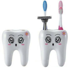 Toothbrush Cup Cartoon Teeth Shape Holder Stand Container Bathroom 4 Holes