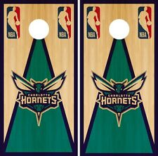 Charlotte Hornets Cornhole Wrap NBA Game Vintage Skin Set Vinyl Decal CO569