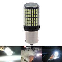 1x White 1156 7506 P21W BA15S LED 3014 144SMD Car Turn Signal Light Bulbs Pg