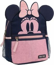Disney Minnie Mouse Toddler Girls Backpack w/Harness Straps-Critter Ears Heather