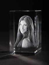 3D Laser Foto im  Glas Block Torino 50x80x50mm Glasfoto Bilder Geschenk