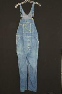 RARE VINTAGE 1960'S KEY BLUE DENIM OVERALLS SIZE LARGE