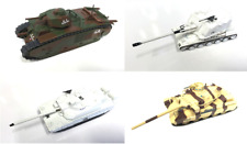 LOT DE 4 CHARS MILITAIRES 1/72 SECONDE GUERRE MONDIALE WW2 AMX LECLERC TANK