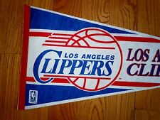 NEW 1980 ~VINTAGE~ DEAD STOCK LOS ANGLES CLIPPERS PENNANT FULL SIZE BASKETBALL