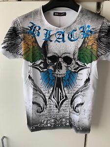 Braazi Slim Fit Skull Head Summer Crew Neck Short Sleeve T- Shirt