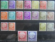 """SAAR 1957 President Heuss, """"Without F"""" Complete Set of 20 MNH"""