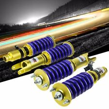 DNA Blue/Gold Race Coilover Damper Shock Lowering Spring for 88-91 Civic/CRX
