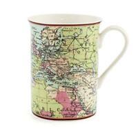 Mundo Viajero Taza Coleccionable Regalo Vacaciones Globe Mapa Geografía Atlas
