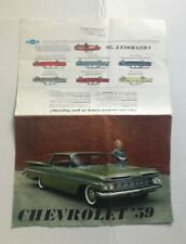 1959 CHEVROLET BROCHURE - CARS - OEM - NOT A REPRINT - GOOD CONDITION