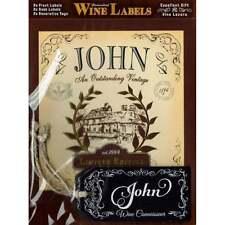 Mulberry Studios Personalised Wine Label John - NEW - WL081
