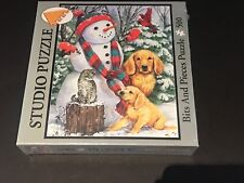 Bits And Pieces Snowy Pals 500 Piece Jigsaw Puzzle Brand New Sealed