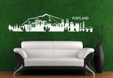 Wall Vinyl Sticker Bedroom Decal Portland Skyline Town City (Z1001)