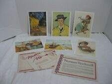 Vintage Lithographs Norman Rockwell and Van Gogh Masters of the Arts Set of 6