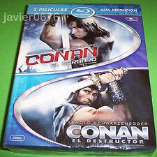 CONAN EL BARBARO + CONAN EL DESTRUCTOR EN BLU-RAY PACK NUEVO Y PRECINTADO