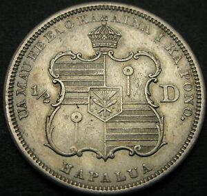 HAWAII 1/2 Dollar 1883 - Silver - VF/XF - 1272 ¤