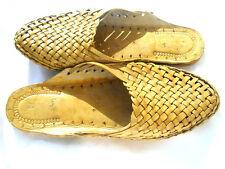 men US 10 handmade leather sandal boho hippie shoes boho buffalo Kolhapuri Shoes