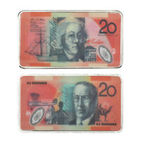 WR Fine Quality Color Australia 20 Dollar Bill Silver Coin For Collection