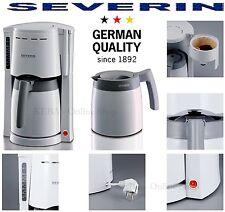 Severin KA 9233 Kaffeeautomat 2x 1L Thermokannen Kaffeemaschine Termos Kanne Wei