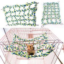 1x Rat Ferret Chinchilla hamsters Hammock Braided Bed Toy Centre Loepard Print M