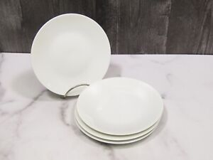 """Set 4 Rosenthal Continental CLASSIC MODERN WHITE Bread Butter Side Plates MCM 6"""""""
