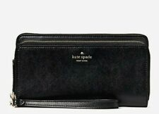 New Kate Spade Payton Saffiano Leather Large Carryall wallet wristlet Black