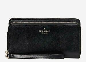 NWT Kate Spade Payton Saffiano Leather Large Carryall wallet wristlet Black